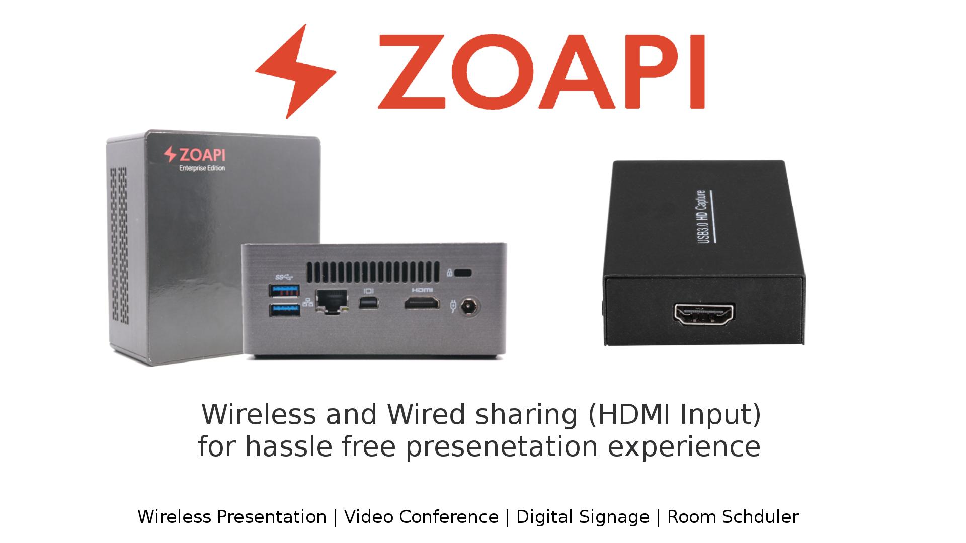 HDMI Input with Zoapi