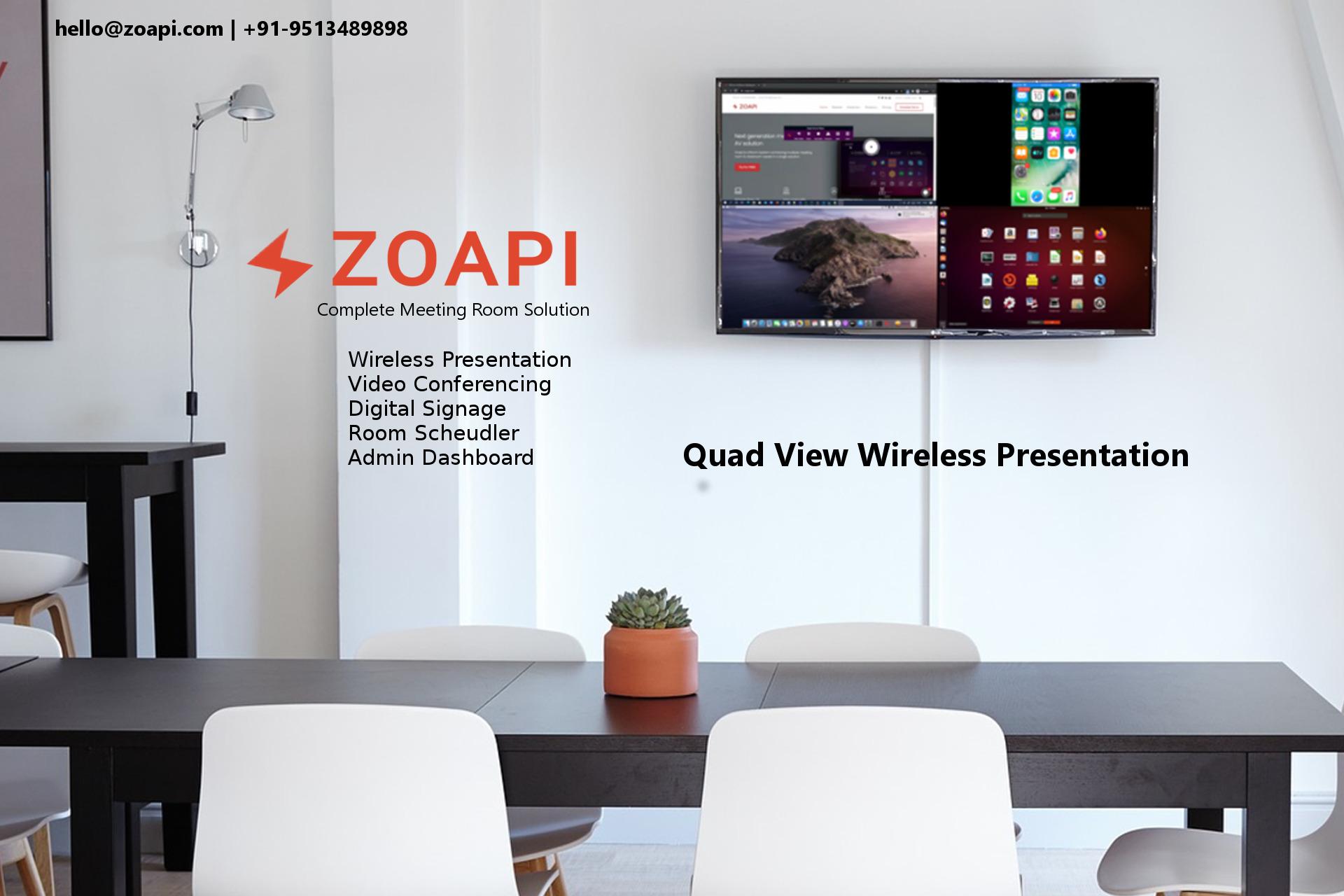 Zoapi Quad view Wireless Presentation