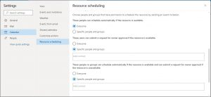 Scheduling permissions